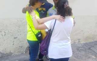 Praying in the streets of Brazil